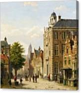 View Of A Dutch Street In Summer Canvas Print