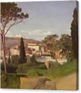 View Of A Villa Canvas Print