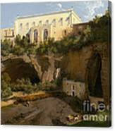 View Of A Villa, Pizzofalcone, Naples Canvas Print