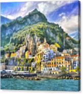 View Of Amalfi Canvas Print