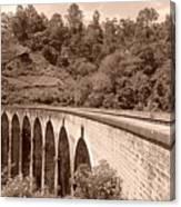 View Of Ancient Bridge Canvas Print
