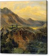 View Of Bagneres De Luchon. Pyrenees Canvas Print