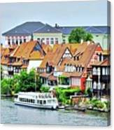 View Of Bamberg Riverfront Canvas Print