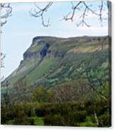 View Of Benbulben From Glencar Lake Ireland Canvas Print