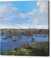 View Of Boston, 1738 Canvas Print