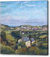 View Of Bude In Cornwall Canvas Print