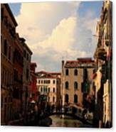 View Of Canal In Venice Canvas Print