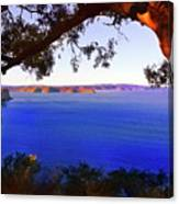 View Of  Central Coast From West Head  Canvas Print