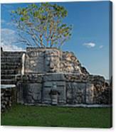 View Of Cerros Maya Ruins At Cerros Canvas Print