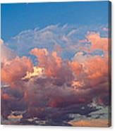View Of Clouds In The Sky Canvas Print