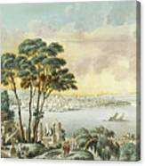 View Of Constantinople From The Marmara Sea Canvas Print