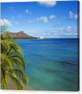 View Of Diamond Head Canvas Print