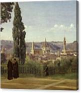 View Of Florence From The Boboli Gardens Canvas Print