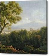 View Of Frascati Canvas Print