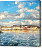 View Of Galway Harbour Canvas Print
