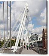 View Of Golden Jubilee Bridge, Thames Canvas Print