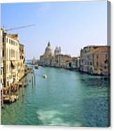 View Of Grand Canal In Venice From Accadamia Bridge Canvas Print