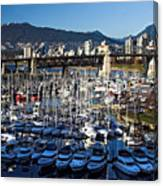 View Of Grandville Island Vancouver Canada Canvas Print