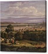 View Of Greenock  Scotland 1816 By Robert Salmon Canvas Print