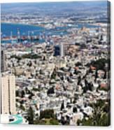 View Of Haifa Canvas Print