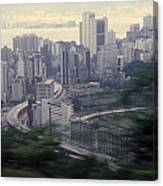 View Of Hong Kong Canvas Print