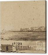 View Of Houtewael Near The Sint Anthoniespoort [recto] Canvas Print