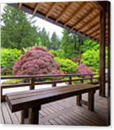 View Of Japanese Garden From The Veranda Canvas Print