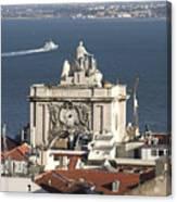 View Of Lisbon Harbor Canvas Print