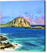 View Of Makapuu And Rabbit Island Canvas Print