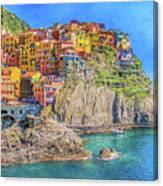 View Of Manarola 2 Canvas Print