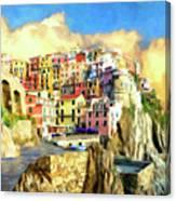 View Of Manarola Cinque Terre Canvas Print