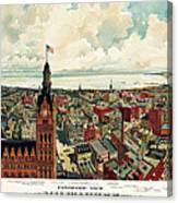 View Of Milwaukee 1898 Canvas Print
