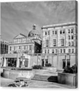 View Of Montgomery County Courthouse From The Southside In Black Canvas Print