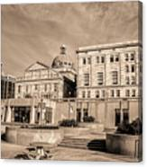 View Of Montgomery County Courthouse From The Southside In Sepia Canvas Print
