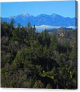 View Of Mount Baldy From The San Bernardino Mountains Canvas Print