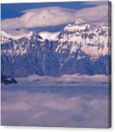 View Of Mount Everest In Nepal Canvas Print