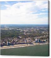 View Of Myrtle Beach Canvas Print