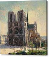 View Of Notre Canvas Print