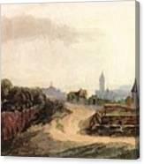 View Of Nuremberg 1497 Canvas Print