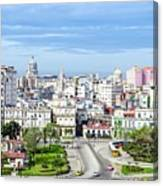 View Of Old Town Havana Canvas Print