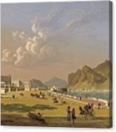 View Of Palermo 1845, Robert Salmon Canvas Print