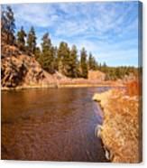 View Of River Around The Bend Canvas Print