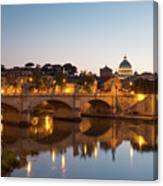 View Of Rome Canvas Print