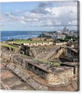 View Of San Juan From The Top Of Fort San Cristoba Canvas Print