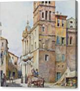 View Of Santa Maria In Monticelli, Rome  Canvas Print
