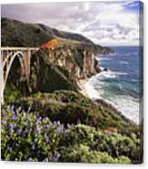 View Of The Bixby Creek Bridge Big Sur California Canvas Print
