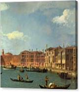 View Of The Canal Of Santa Chiara Canvas Print