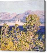 View Of The Cap Dantibes With The Mistral Blowing Canvas Print