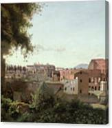 View Of The Colosseum From The Farnese Gardens Canvas Print
