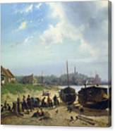 View Of The Dutch Coast Canvas Print